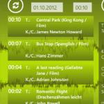 Playlist: Zeigt die aktuell gespielten Tracks und man kann über die Datum- und Zeitfelder Listen aus der Vergangenheit aufrufen. Was lief wann?
